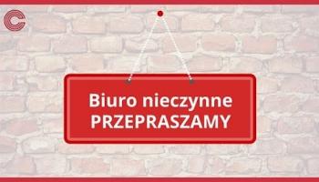 14.08.2020 r. Biuro Stowarzyszenia będzie nieczynne