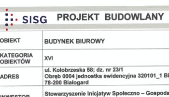 Oferta na przebudowę ściany w pomieszczeniu biurowym w budynku przy ul. Kołobrzeskiej 58 w Białogardzie
